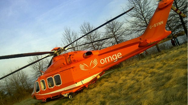 An Ornge air ambulance helicopter made an emergency landing in Etobicoke's Colonel Samuel Smith Park. Nil Koksal/CBC
