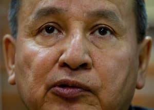 Grand Chief Stewart Phillip of the Union of B.C. Indian Chiefs says the federal government will face battles in court and elsewhere if it seeks to speed up the environmental review process for the Northern Gateway pipeline. (Darryl Dyck/Canadian Press)