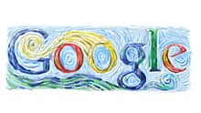 Over 1,000 doodles have appeared on Google's homepage since 1998, including this Starry Night-style version of the Google logo to commemorate Vincent Van Gogh's  152nd birthday on March 29, 2005.