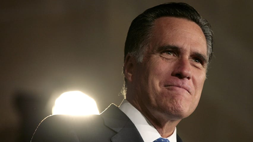 U.S. Republican presidential candidate Mitt Romney's campaign made a typo on an iPhone app released Tuesday that has gone viral.