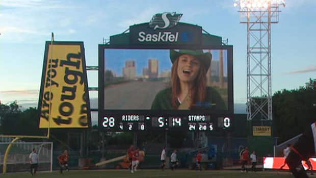 A new video scoreboard and a secondary video screen have been installed at Mosaic Stadium in Regina.