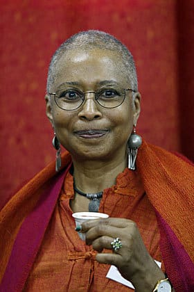 U.S. writer Alice Walker, during a visit to the northern Gaza Strip community of Beit Hanoun in March 2009.