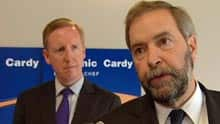 NDP Leader Dominic Cardy appeared with high-profile national politicians, such as federal leader Tom Mulcair, during the byelection.