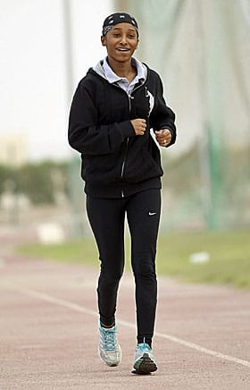 Sprinter Noor al-Malki, who will compete in the 100-metre dash is one of four female athletes from Qatar breaking the gender barrier at the London Olympics.