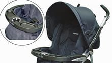 Peg Perego strollers with one cup holder in the child tray are included in the U.S. recall.