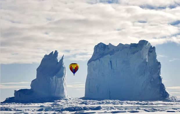 Valberg and her companions had been camped for 12 days before winds calmed down enough to fly up in the balloon.