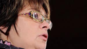 Attawapiskat First Nation Chief Theresa Spence speaks to the Economic Club of Canada in Ottawa on Wednesday on Jan. 25. A court found Wednesday that it was unreasonable for the government to bring in an external financial manager for the community.