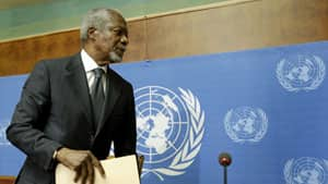 Former UN secretary general Kofi Annan is stepping down as the UN-Arab League mediator in the 17-month-old Syria conflict at the end of the month.