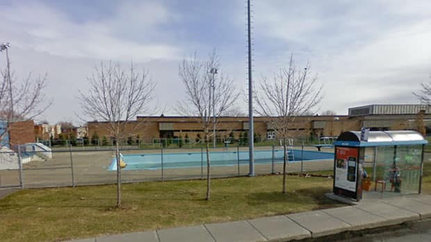 The swimming pool where a teen drowned Tuesday night is alongside a wide boulevard across the street from homes in the Montreal borough of LaSalle.