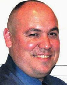 Brazos County Const. Brian Bachmann, 41, died in hospital on Monday after a shooting in College Station, Texas.