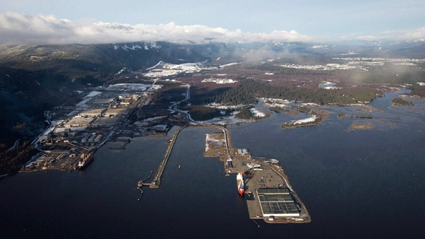 Douglas Channel, the proposed termination point for an oil pipeline in the Enbridge Northern Gateway Project, is in Kitimat, B.C.