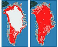 Greenland ice melt July 2012