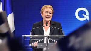 Federal leaders and MPs say they will work with Pauline Marois, pictured at her victory speech Tuesday night, but that her minority win signals most Quebecers don't want to separate.