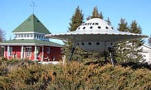 Roadside flying saucer at Moonbeam, Ont.