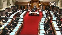 The floor B.C. legislature won't be the scene of any debate until February, the government says.