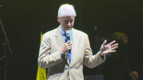 Former U.S. president Bill Clinton speaks in Vancouver