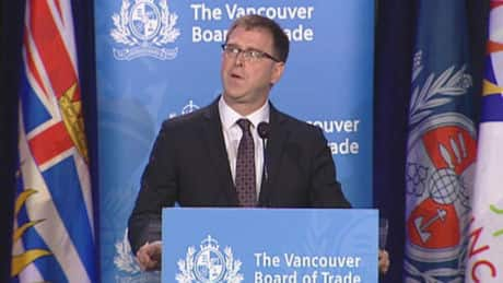 Dix delivers first Vancouver Board of Trade speech