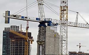 Manhattan North? Condo cranes dominate the Toronto skyline.