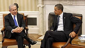 Netanyahu with Obama in the Oval Office in March 2012.