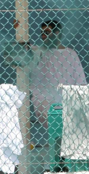 Omar Khadr at the U.S. military's Guantanamo Bay detention centre in Cuba in 2010.