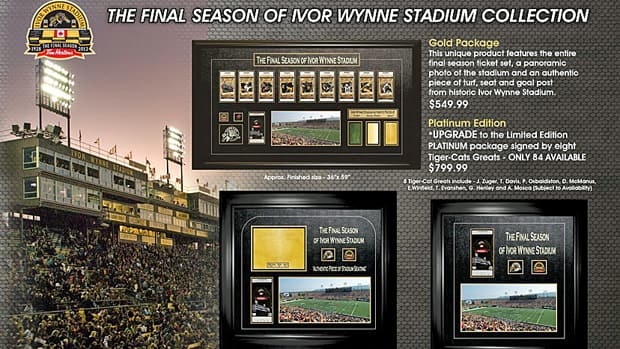 Fans have a choice of six different framed packages.