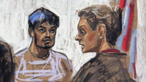 Quazi Mohammad Rezwanul Ahsan Nafis, left, was arraigned in the United States District Court of the Eastern District of New York.