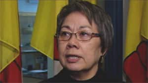 Eva Aariak, Nunavut's Premier, said the territory clings to Confederation by the thinnest of threads because it has no road link to the rest of the country.