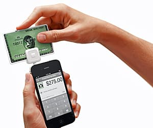 Square gives small business owners and anyone selling anything the ability to accept credit card payments by attaching a tiny white peripheral to an iPhone, iPad or Android device.
