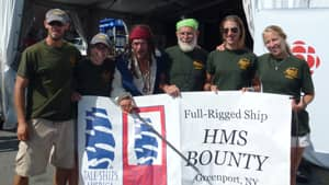 Crew members of HMS Bounty pose during the Tall Ships Festival in Halifax in July.