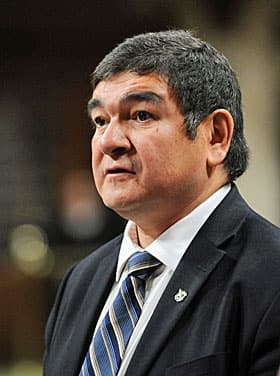 Muzzled minister, Labrador MP Peter Penashue.
