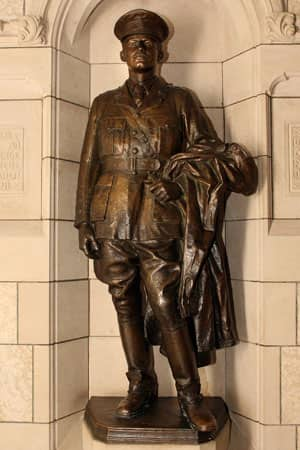 This statue in the House of Commons in Ottawa honours Lieut.-Col. Harry Baker, the only MP killed in action in the First World War. He was the member of Parliament for Brome, Que.