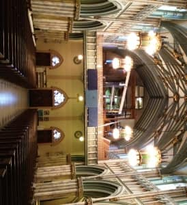 The choir loft at St. Dunstan's will soon house the new organ.