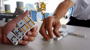 The game of dominoes was the other 2012 inductee to the National Toy Hall of Fame. The game was popularized in China centuries ago, and later spread to Europe.