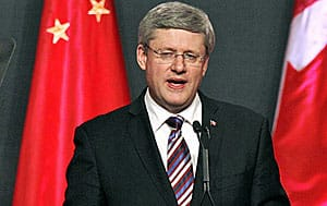 Prime Minister Stephen Harper lauded stronger relations with China during a speech in Guangzhou during his visit to China in February. A confidential draft document makes deepening trade ties with Asia the main focus of Canada's new foreign policy.