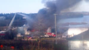 Thick black smoke could be seen from Saint John all the way to Grand Bay.