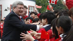Prime Minister Stephen Harper, shown on a visit to China earlier this year, has yet to secure a free-trade agreement in the Asia Pacific region.