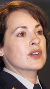 Cpl. Catherine Galliford, shown in 2002, filed a 115-page internal complaint alleging constant sexual harassment from male RCMP members.