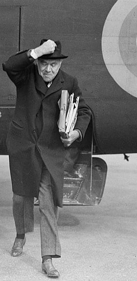 Is Mark Carney the next Lord Beaverbrook, Canada's Max Aiken, shown here exiting a RAF plane at Gander, Nfld., in 194?