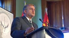 Premier David Alward spoke to reporters on Tuesday about his government's throne speech.