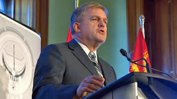 Premier David Alward did not specifically include a promise to erase the province's deficit by 2014 in Tuesday's throne speech.