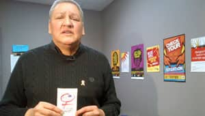 Art Zoccole of the Canadian Aboriginal AIDS Network says some people don't know what a female condom is, or how it could help women protect themselves from HIV infection.