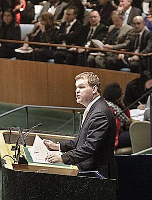 Foreign Affairs Minister John Baird flew to New York last week to denounce the UN resolution to grant the Palestinians observer state satus. The resolution passed 138-9.