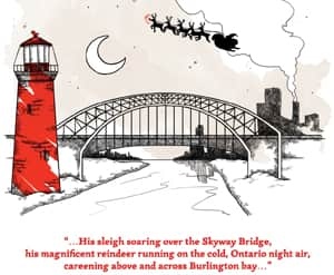 Illustrations from A Child's Christmas in Hamilton have been used to create a set of Christmas cards.