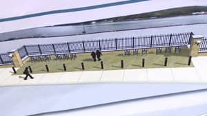 The St. John's Port Authority's proposed plan for a security fence along the harbourfront.
