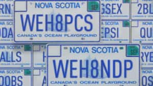 There are 2,966 words on a list of banned licence plates in Nova Scotia.