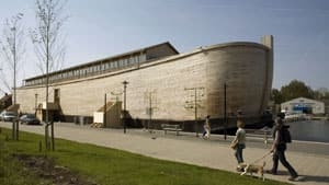 Johan Huibers's replica of Noah's Ark is 130 metres long, 29 metres wide and 23 metres tall.