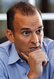 Travis Tygart, the CEO of the U.S. Anti-Doping Agency, during an interview at his office in Colorado Springs, Colo., on Oct. 26, 2012, two weeks after the agency released a 200-page report into a doping scheme that implicated cyclist Lance Armstrong and his U.S. Postal Service Pro Cycling Team.