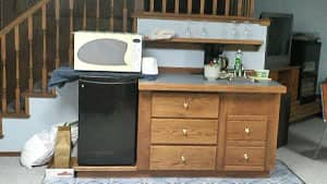 Erik Flores and his five roommates shared a microwave and a small bar fridge.