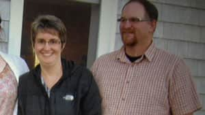 Bernard and Stacy Cheverie, in a family photo from August 2011.