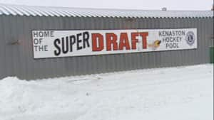The big sign for the Kenaston Super Draft is a familiar sight on the highway between Saskatoon and Regina.